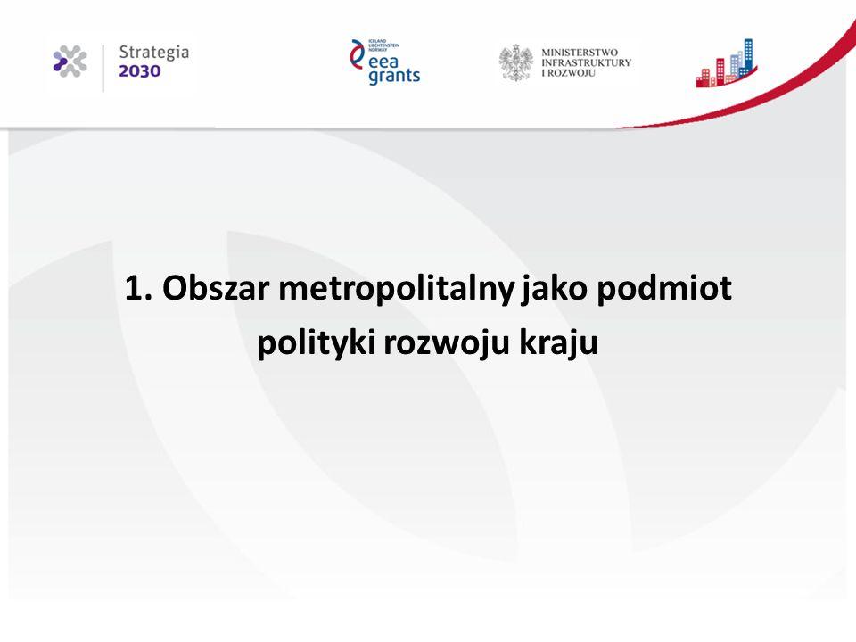 1. Obszar metropolitalny jako podmiot polityki rozwoju kraju