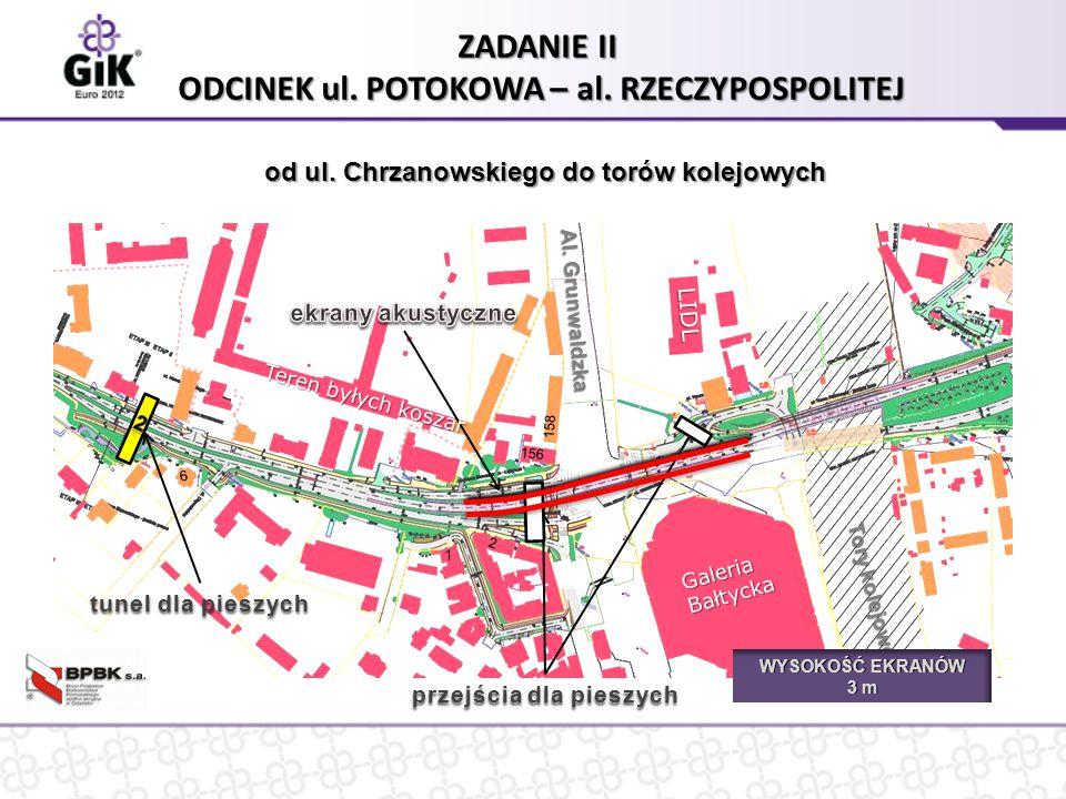 przejścia dla pieszych ZADANIE II ODCINEK ul. POTOKOWA – al.
