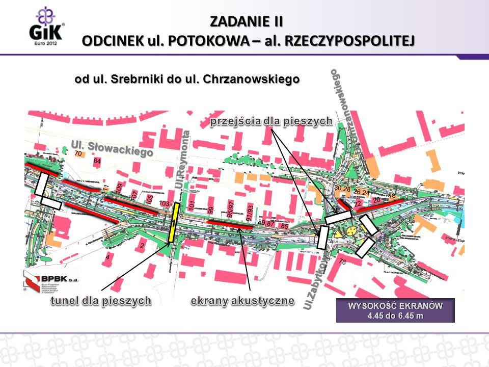 Ul. Słowackiego ZADANIE II ODCINEK ul. POTOKOWA – al.