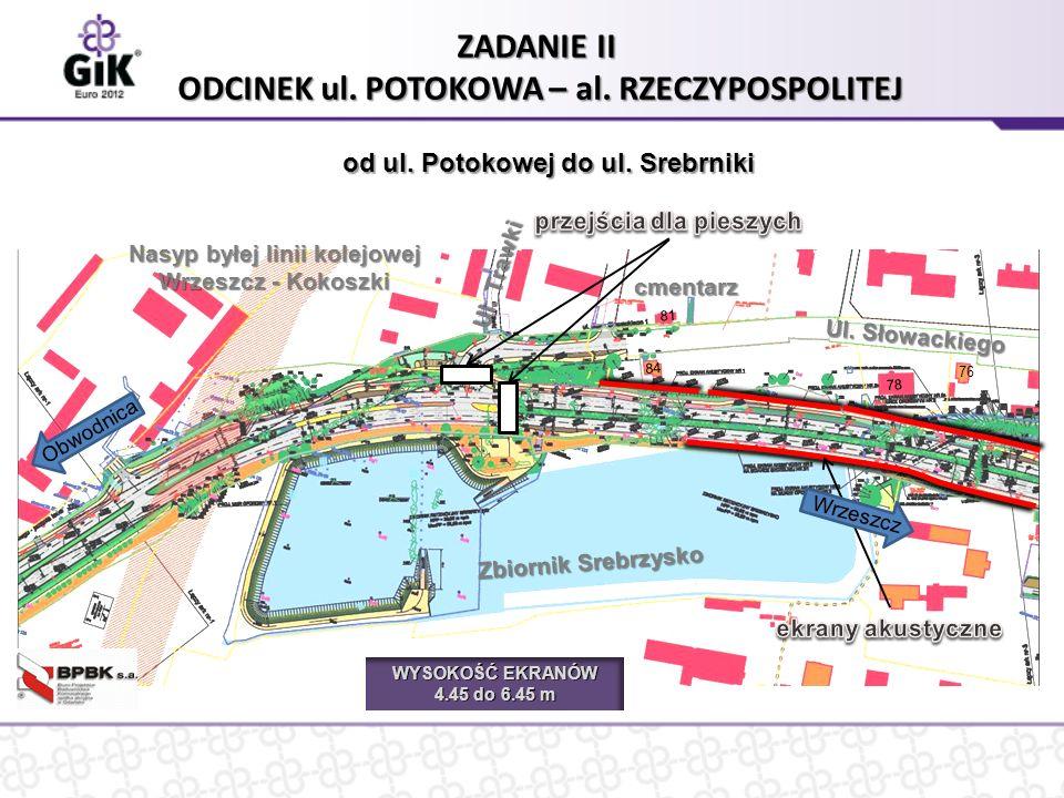 Ul. Słowackiego Zbiornik Srebrzysko ZADANIE II ODCINEK ul.