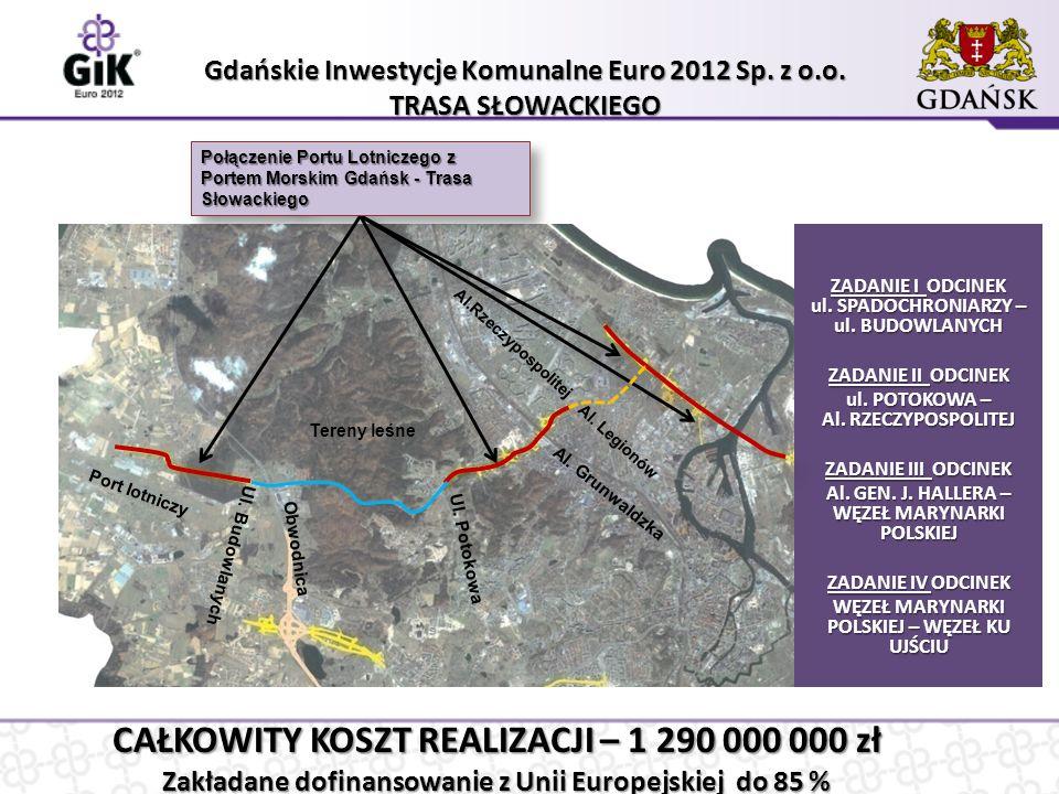 Połączenie Portu Lotniczego z Portem Morskim Gdańsk - Trasa Słowackiego Gdańskie Inwestycje Komunalne Euro 2012 Sp.