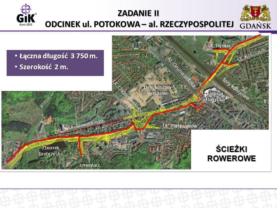 Zakres zadania II – odcinek ul. Potokowa – al. Rzeczypospolitej tory kolejowe Ul.