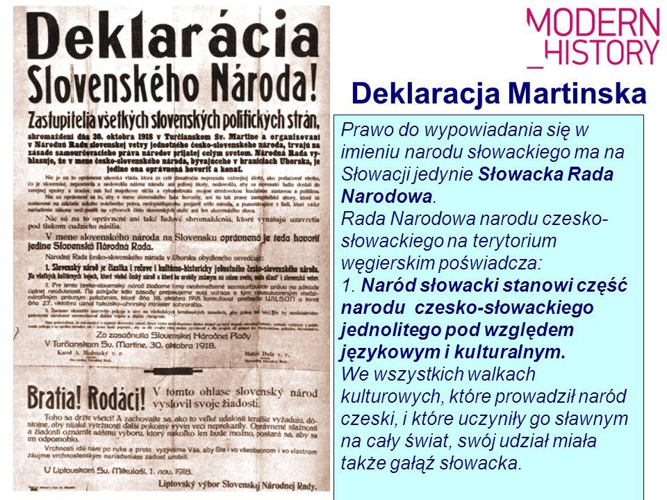 Prawo do wypowiadania się w imieniu narodu słowackiego ma na Słowacji jedynie Słowacka Rada Narodowa. Rada Narodowa narodu czesko- słowackiego na tery