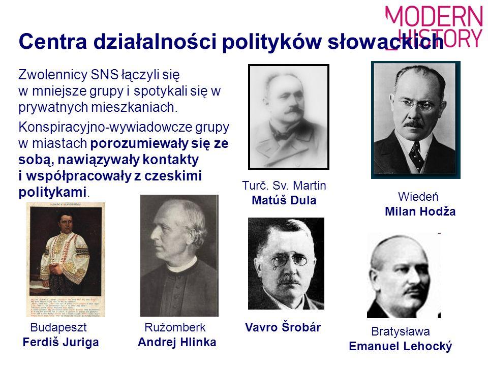 - Proklamacja niepodległości czesko-słowackiej, - opublikowana 18 października 1918r.