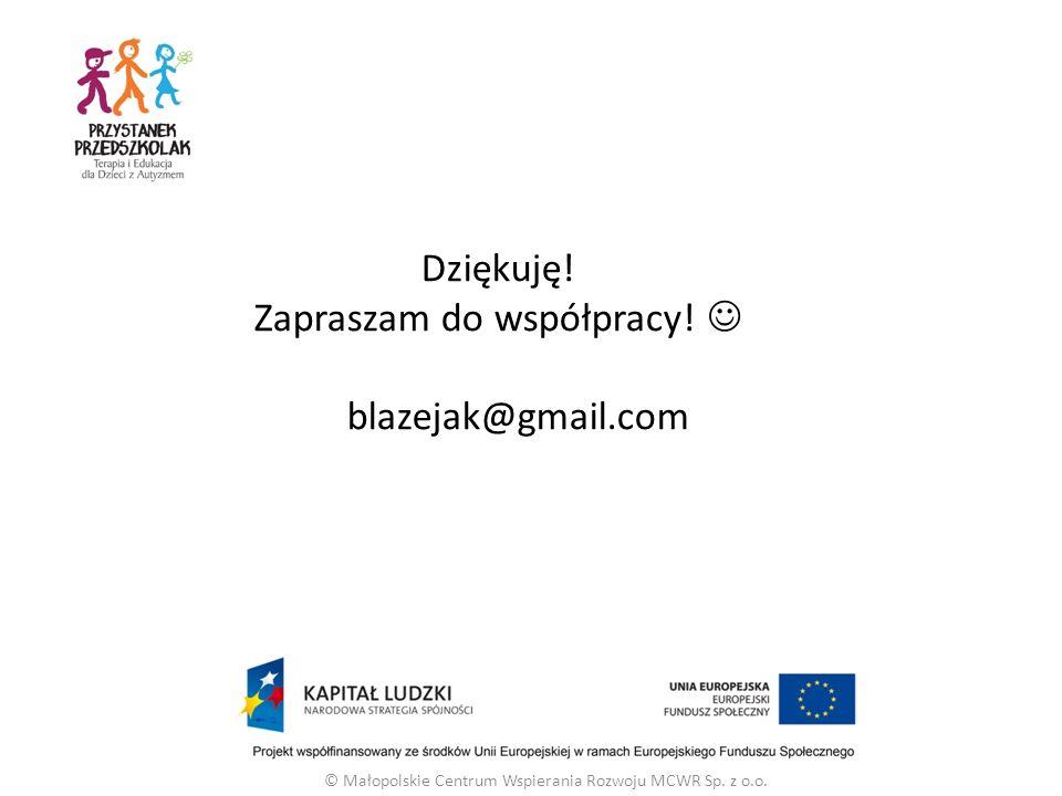 Dziękuję! Zapraszam do współpracy!  blazejak@gmail.com