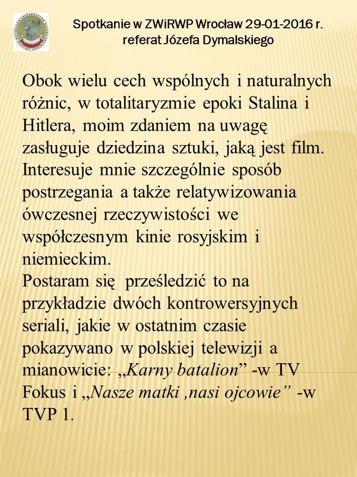Spotkanie w ZWiRWP Wrocław 29-01-2016 r. referat Józefa Dymalskiego DZIĘKUJĘ ZA UWAGĘ