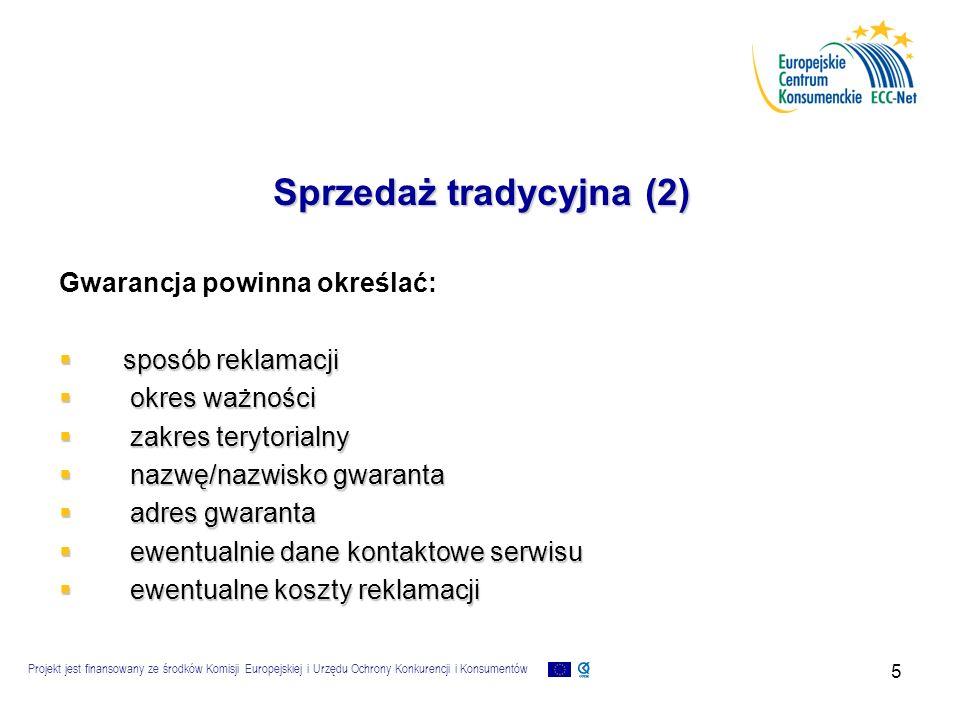 Projekt jest finansowany ze środków Komisji Europejskiej i Urzędu Ochrony Konkurencji i Konsumentów 16 Kontakt z ECK  Telefonicznie: +48 22 55 60 118 (infolinia) +48 22 55 60 359 (fax)  Elektronicznie: e-mail:info@konsument.gov.pl, es@konsument.gov.pl info@konsument.gov.pl www:http://www.konsument.gov.pl  Listownie oraz osobiste wizyty w Centrum: Europejskie Centrum Konsumenckie Plac Powstańców Warszawy 1 00-950 Warszawa Dziękuję za uwagę!