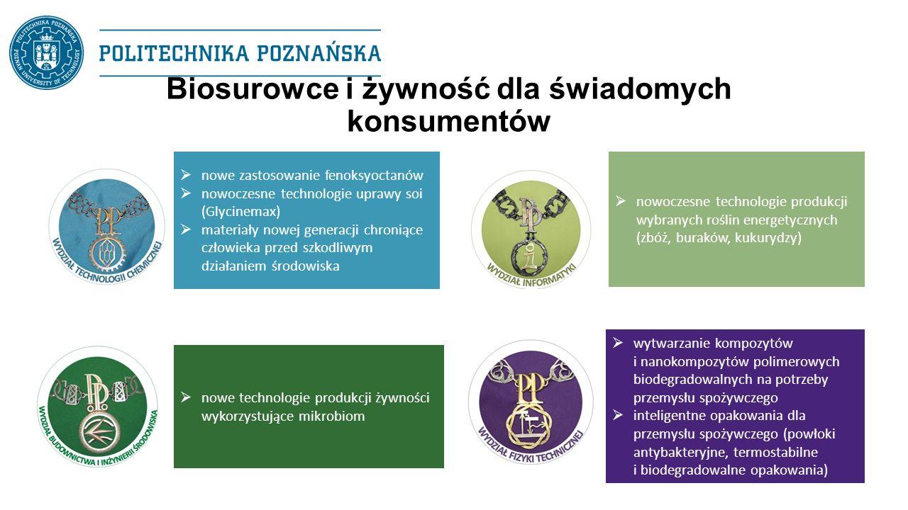 Biosurowce i żywność dla świadomych konsumentów  nowe zastosowanie fenoksyoctanów  nowoczesne technologie uprawy soi (Glycinemax)  materiały nowej