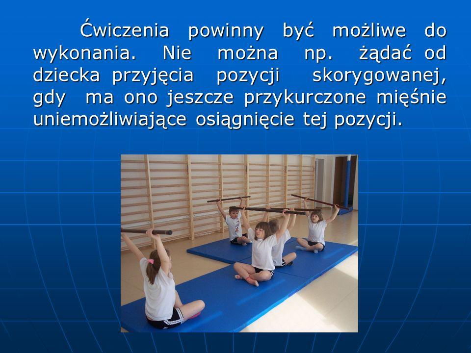 Przerwy między ćwiczeniami powinny być wykorzystywane na odpoczynek po poprzednich ćwiczeniach oraz na wyrównanie i uspokojenie oddechu.