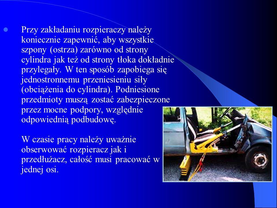 Przed rozpoczęciem prac ratunkowych położenie przedmiotu wypadku musi zostać ustabilizowane.