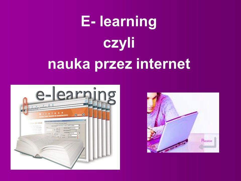 E- learning czyli nauka przez internet