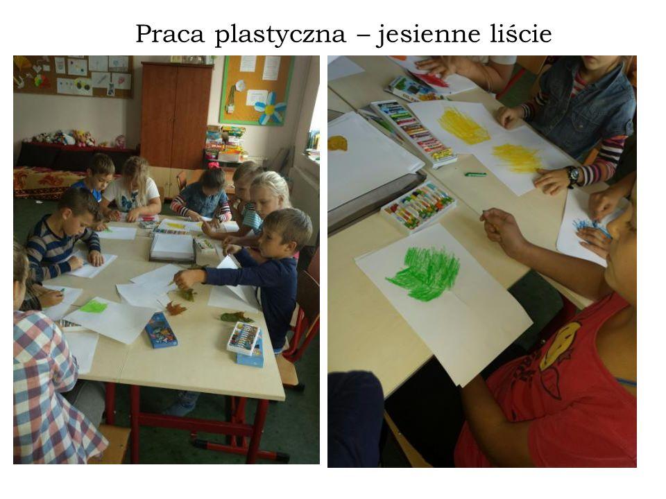Praca plastyczna – jesienne liście