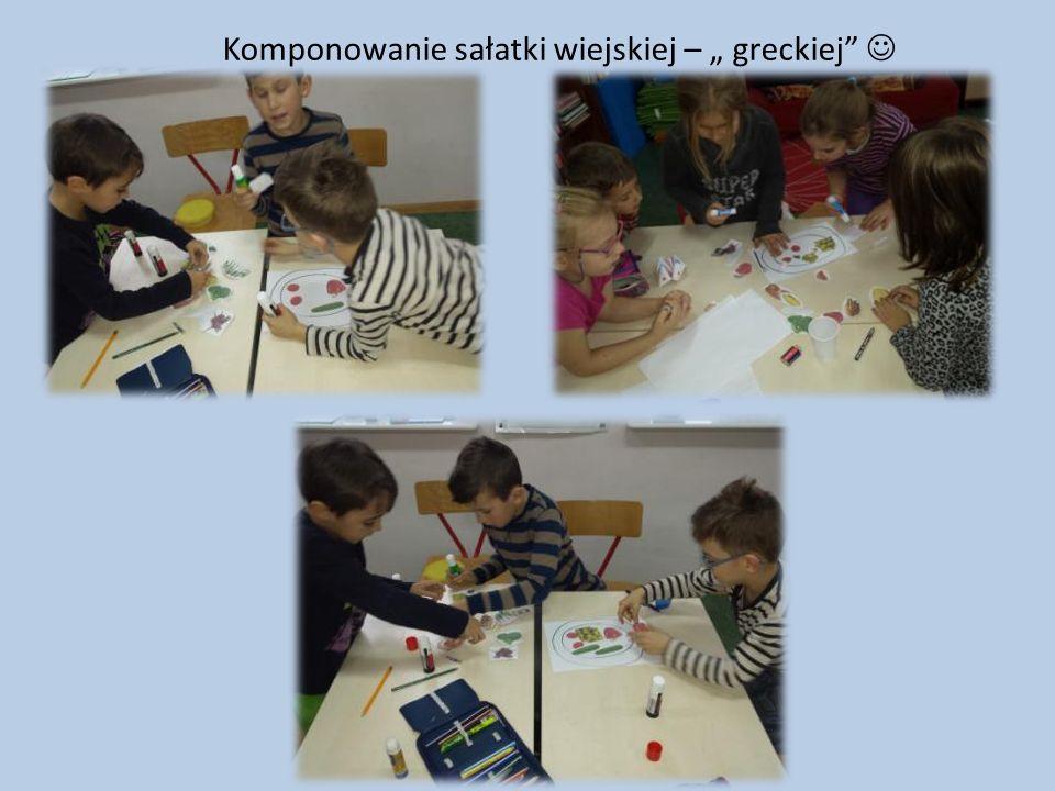 """Komponowanie sałatki wiejskiej – """" greckiej"""