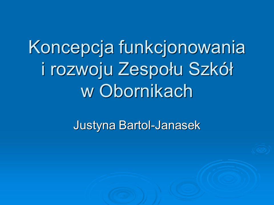 Koncepcja funkcjonowania i rozwoju Zespołu Szkół w Obornikach Justyna Bartol-Janasek
