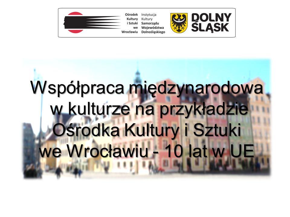 Współpraca międzynarodowa w kulturze na przykładzie Ośrodka Kultury i Sztuki we Wrocławiu - 10 lat w UE