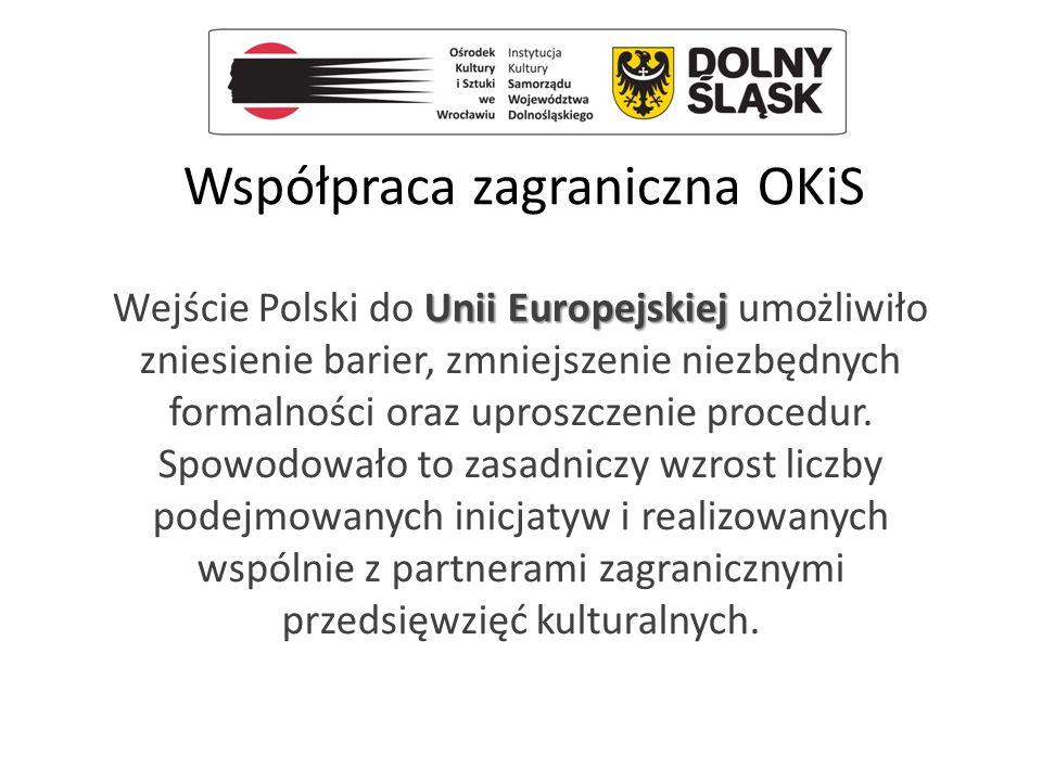 Współpraca zagraniczna OKiS Unii Europejskiej Wejście Polski do Unii Europejskiej umożliwiło zniesienie barier, zmniejszenie niezbędnych formalności o