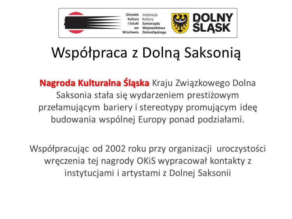 Współpraca z Dolną Saksonią Nagroda Kulturalna Śląska Nagroda Kulturalna Śląska Kraju Związkowego Dolna Saksonia stała się wydarzeniem prestiżowym prz