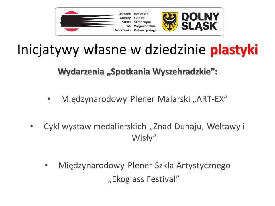 """plastyki Inicjatywy własne w dziedzinie plastyki Wydarzenia """"Spotkania Wyszehradzkie"""": Międzynarodowy Plener Malarski """"ART-EX"""" Cykl wystaw medalierski"""