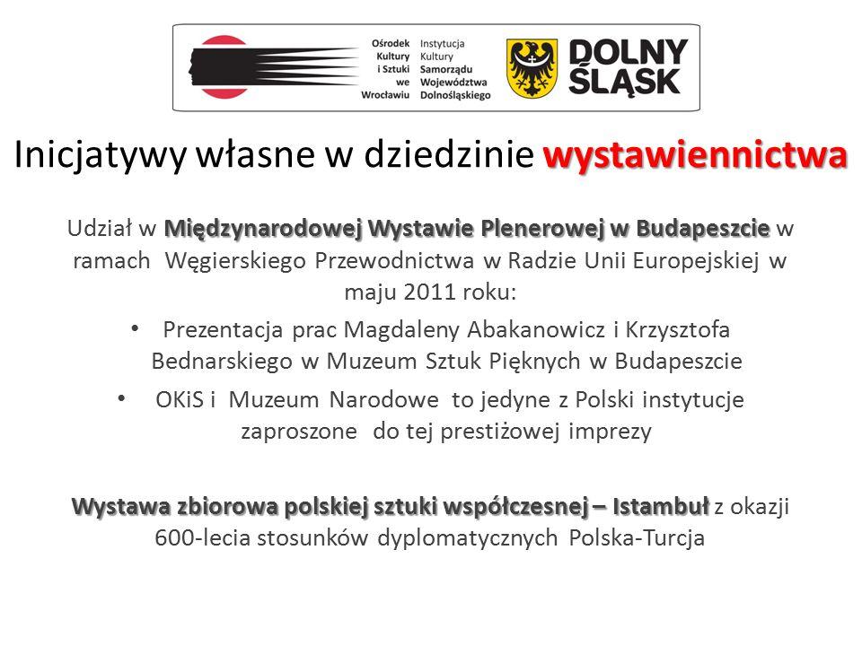 wystawiennictwa Inicjatywy własne w dziedzinie wystawiennictwa Międzynarodowej Wystawie Plenerowej w Budapeszcie Udział w Międzynarodowej Wystawie Ple