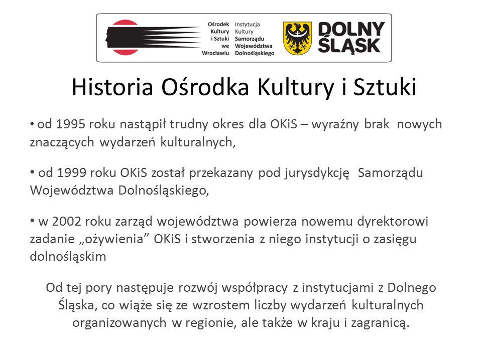 Historia Ośrodka Kultury i Sztuki od 1995 roku nastąpił trudny okres dla OKiS – wyraźny brak nowych znaczących wydarzeń kulturalnych, od 1999 roku OKi