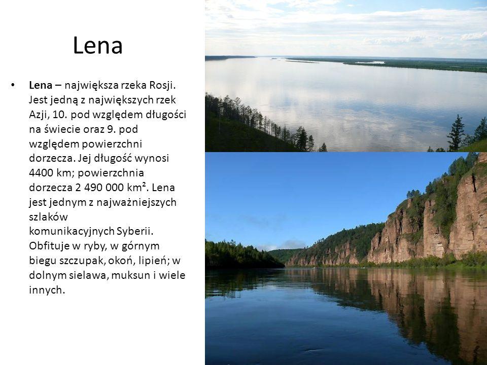 Lena Lena – największa rzeka Rosji. Jest jedną z największych rzek Azji, 10.