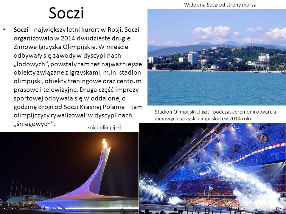 Soczi Soczi - największy letni kurort w Rosji.