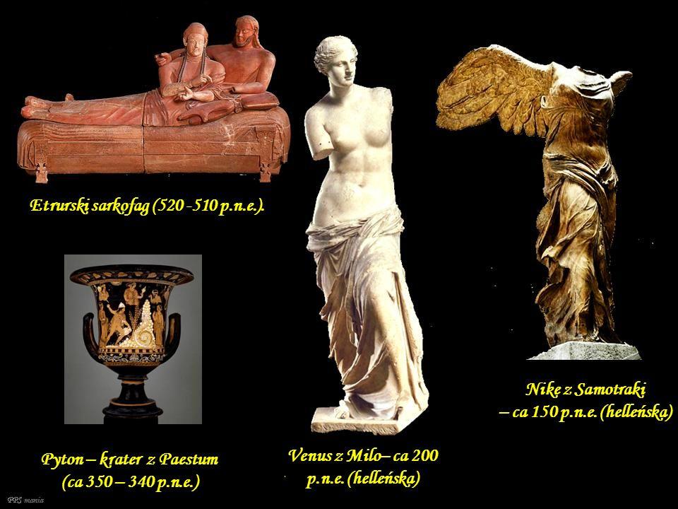 Pisarz – IV dynastia (ca 2500 p.n.e.) Echnaton i Nefertiti (XIV w.p.n.e.) Figurki Ozyrysa, Izydy i Horusa 874–850 p.n.e. Panel z lwem z Drogi Procesyj