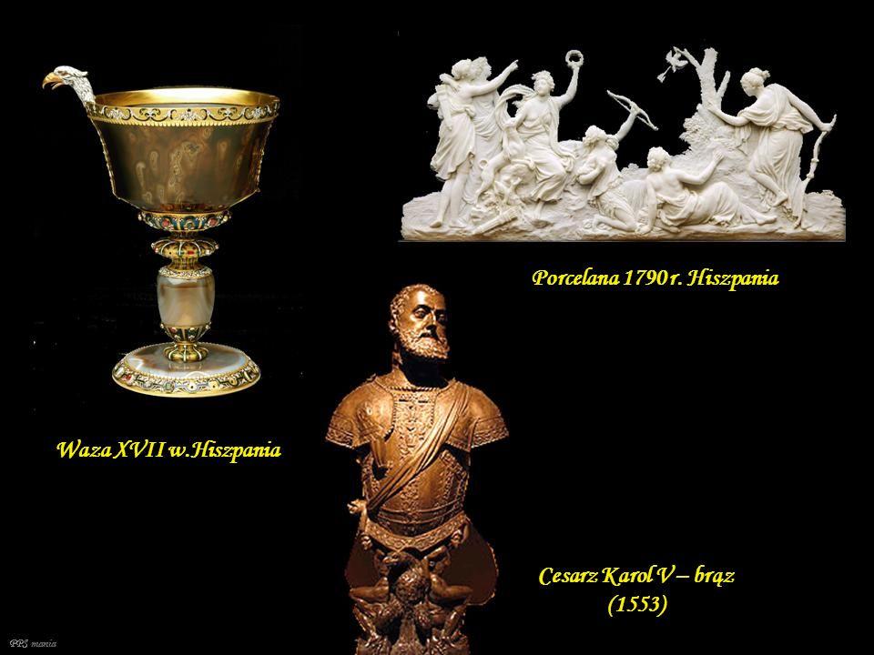 Popiersie - Vibia Sabina, marmur, ca 130 AD. Cesarz Antonino Pío. Marmur, ca 140 r. Kolekcja Królewska Tańczące Menady – rzymski relief ca 120 – 140,