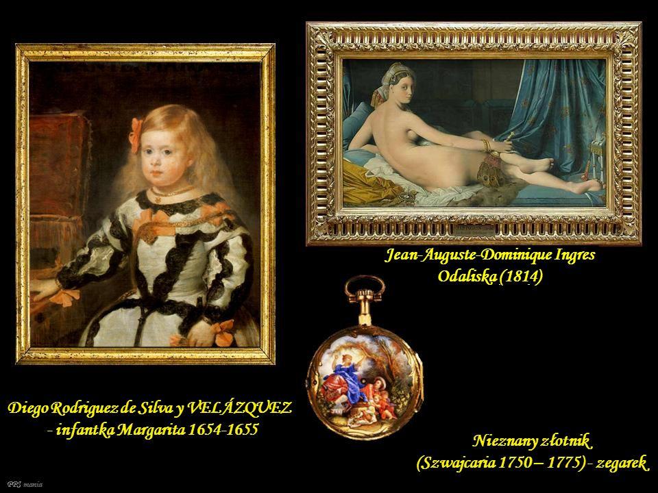 Jean-Auguste-Dominique Ingres Odaliska (1814) Diego Rodriguez de Silva y VELÁZQUEZ - infantka Margarita 1654-1655 Nieznany złotnik (Szwajcaria 1750 – 1775) - zegarek