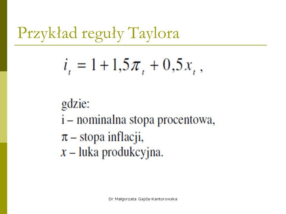 Przykład reguły Taylora Dr Małgorzata Gajda-Kantorowska