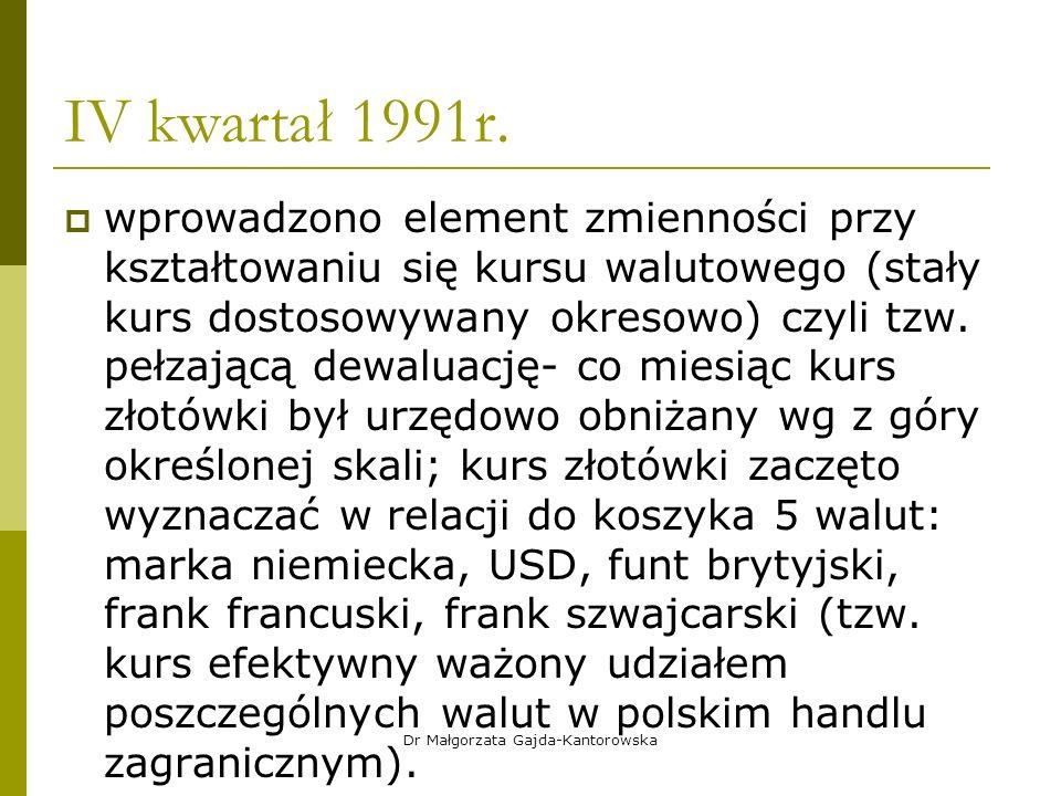 IV kwartał 1991r.