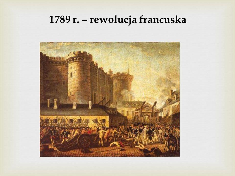 1789 r. – rewolucja francuska