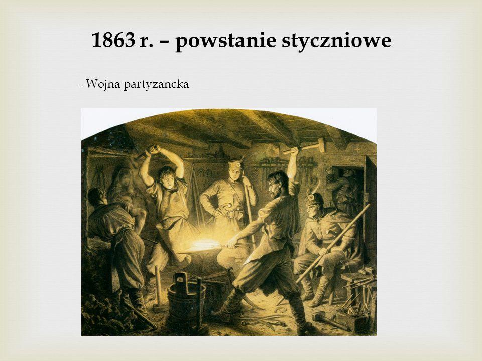 1863 r. – powstanie styczniowe - Wojna partyzancka