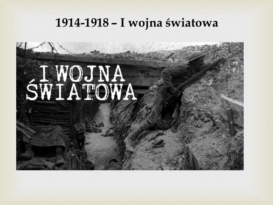 1914-1918 – I wojna światowa