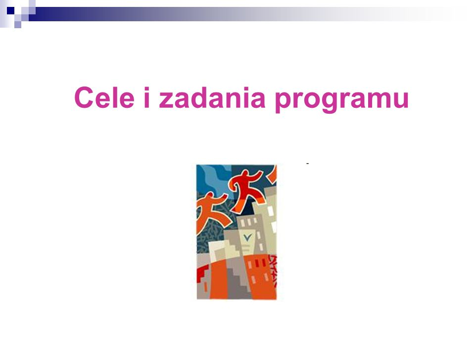 Cele i zadania programu