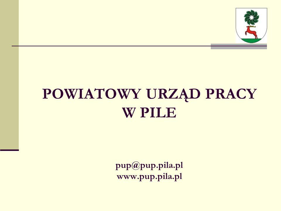 POWIATOWY URZĄD PRACY W PILE pup@pup.pila.pl www.pup.pila.pl