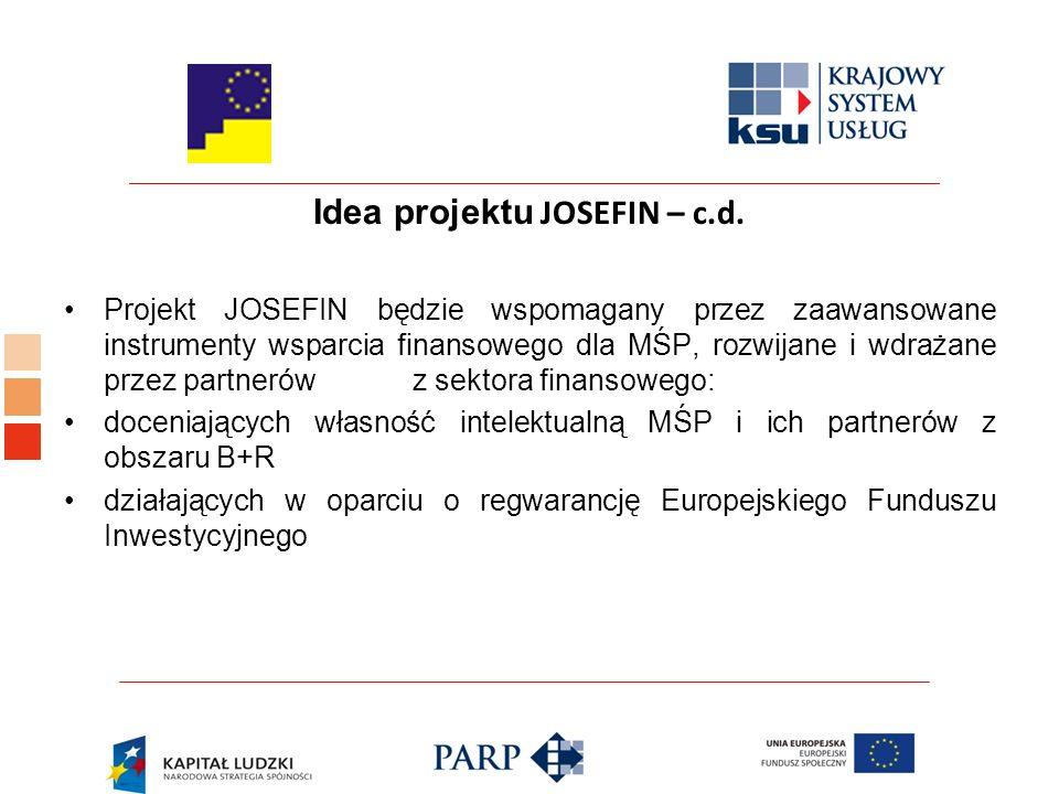 Idea projektu JOSEFIN – c.d.