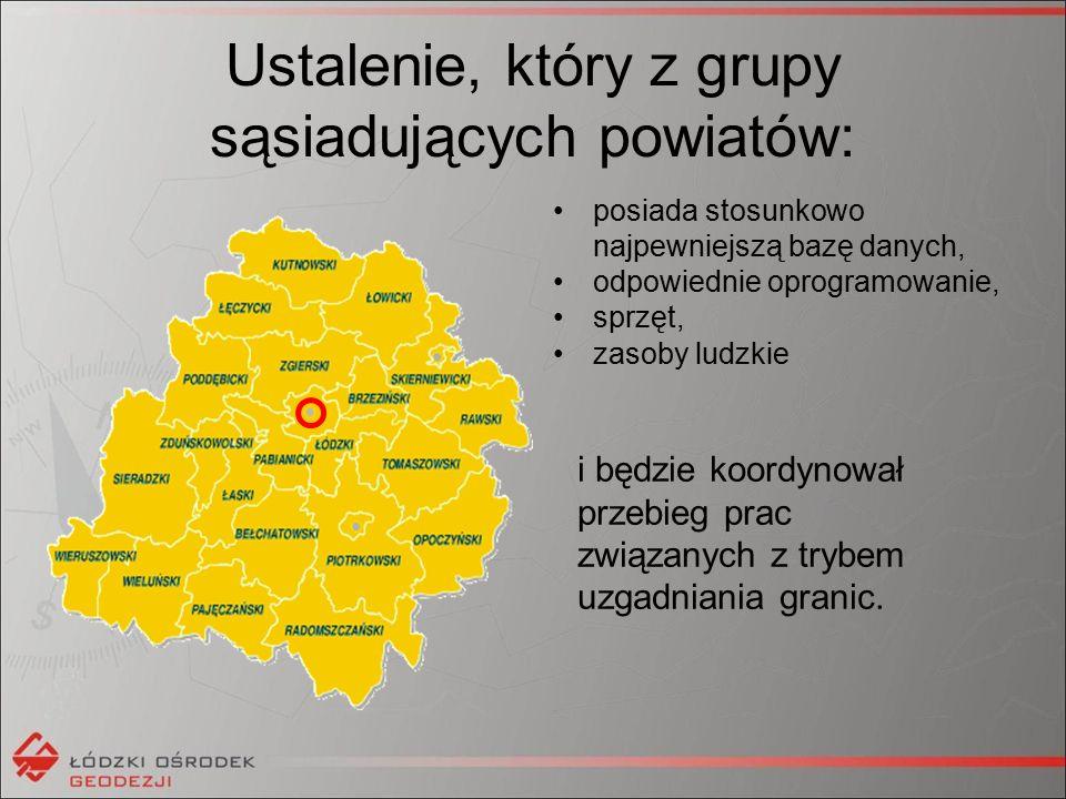 Procedura postępowania ODGiK importuje dane pozyskane z sąsiedniego powiatu do własnej bazy i dokonuje analizy.