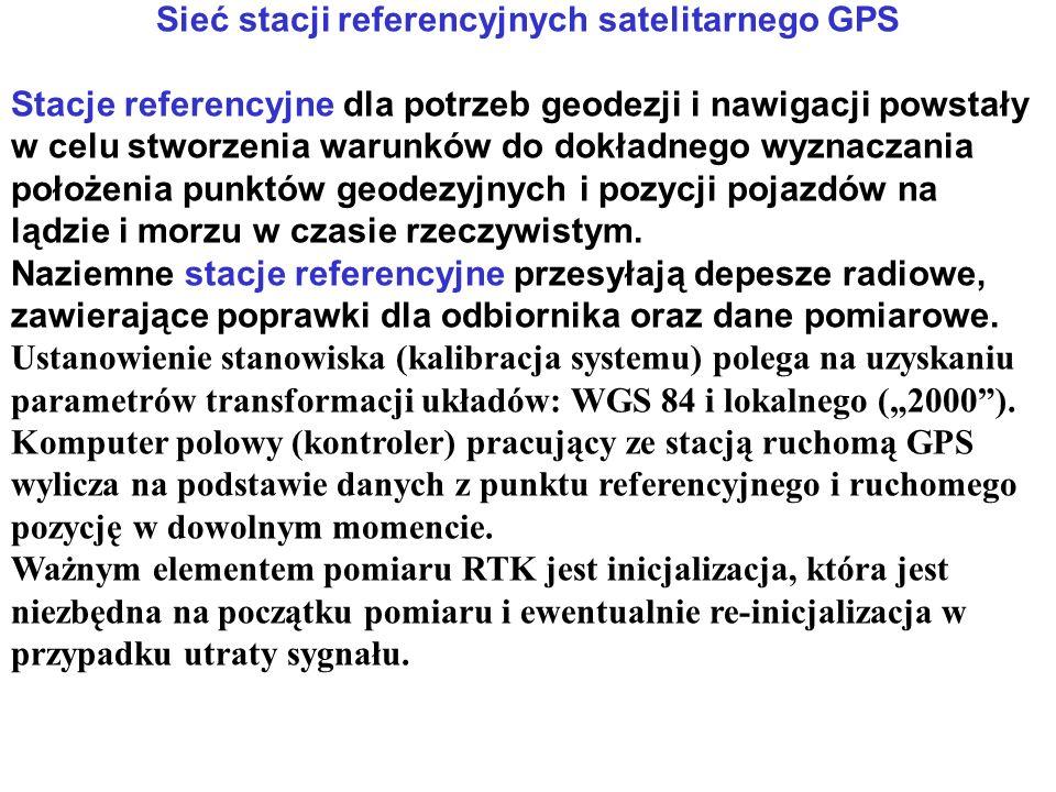 Sieć stacji referencyjnych satelitarnego GPS Stacje referencyjne dla potrzeb geodezji i nawigacji powstały w celu stworzenia warunków do dokładnego wyznaczania położenia punktów geodezyjnych i pozycji pojazdów na lądzie i morzu w czasie rzeczywistym.