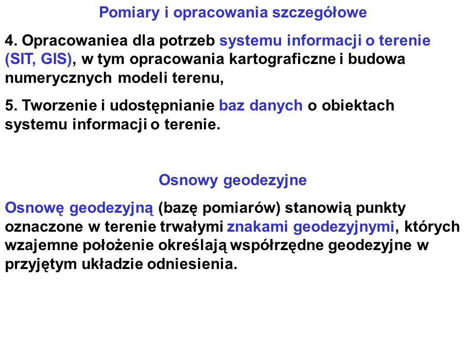 Pomiary i opracowania szczegółowe 4.