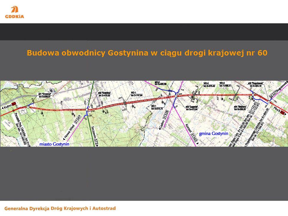 Budowa obwodnicy Gostynina w ciągu drogi krajowej nr 60