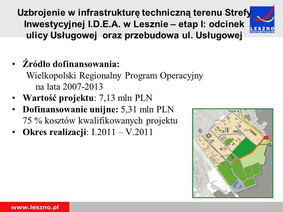 Uzbrojenie w infrastrukturę techniczną terenu Strefy Inwestycyjnej I.D.E.A.