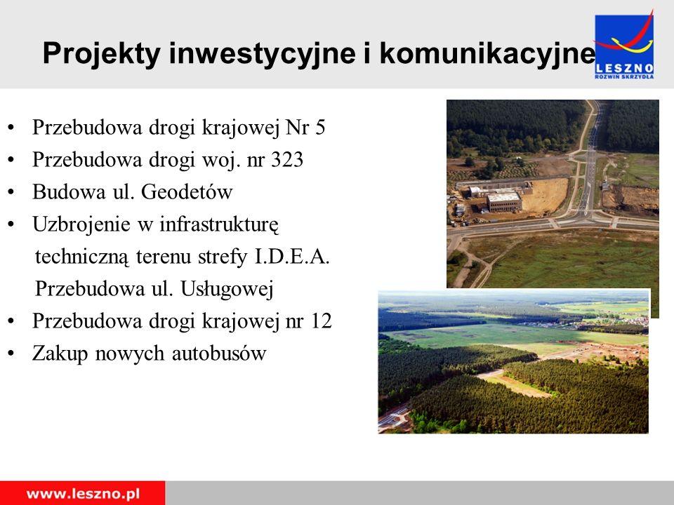 Projekty inwestycyjne i komunikacyjne Przebudowa drogi krajowej Nr 5 Przebudowa drogi woj.