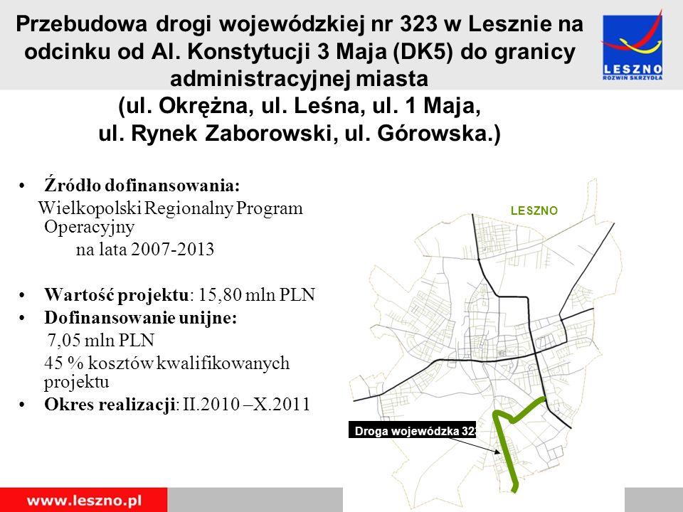 Przebudowa drogi wojewódzkiej nr 323 w Lesznie na odcinku od Al.