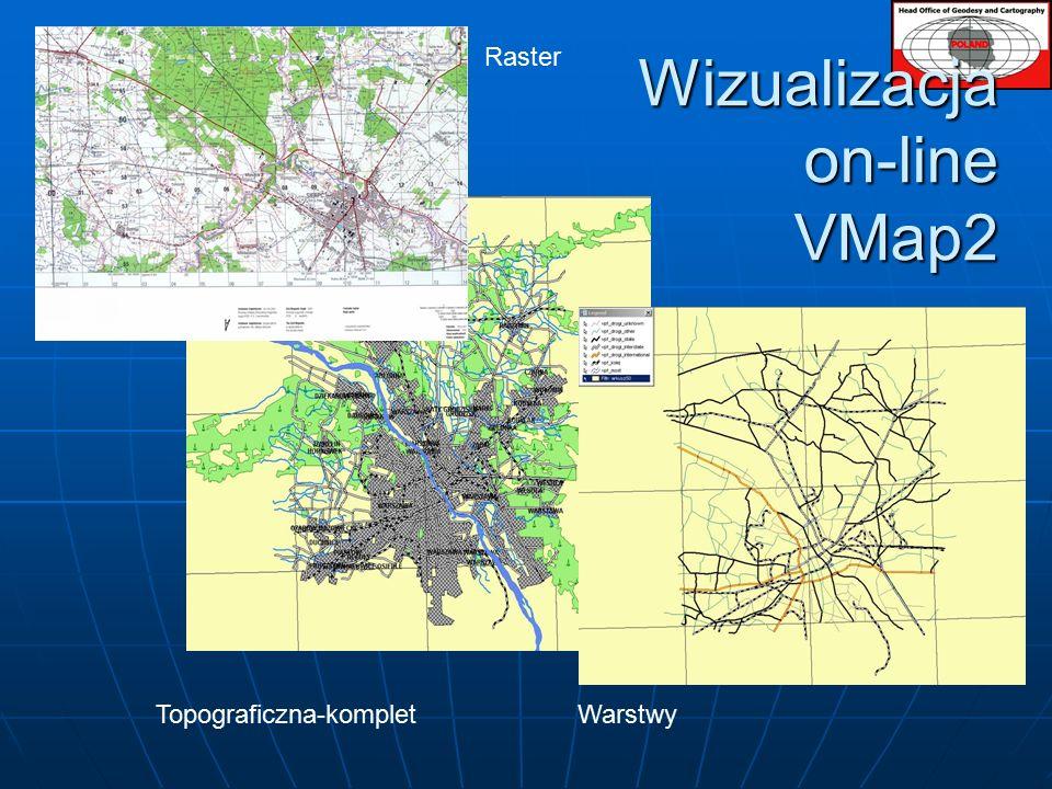 Wizualizacja on-line VMap2 Topograficzna-kompletWarstwy Raster