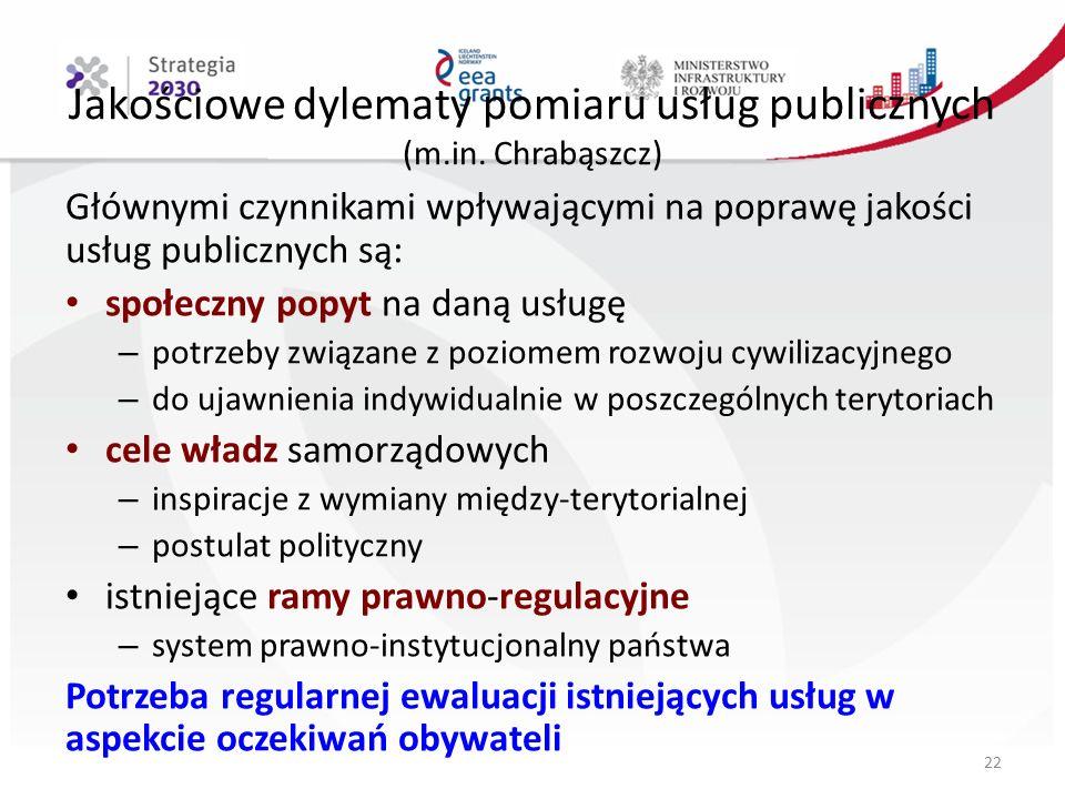 Jakościowe dylematy pomiaru usług publicznych (m.in.
