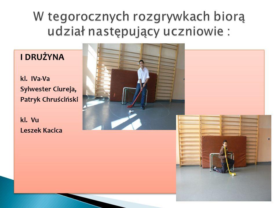 I DRUŻYNA kl. IVa-Va Sylwester Ciureja, Patryk Chruściński kl.