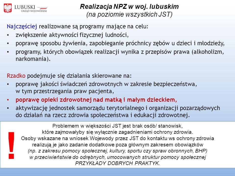 Realizacja NPZ w woj.