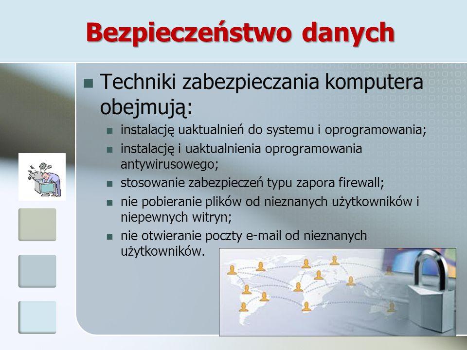 Zagrożenia związane z oprogramowaniem Wirusy komputerowe, Wirusy komputerowe, które można nieświadomie ściągnąć z Internetu, mają różne działanie począwszy od spowalniania pracy komputera poprzez uszkodzenie płyty głównej lub twardego dysku.