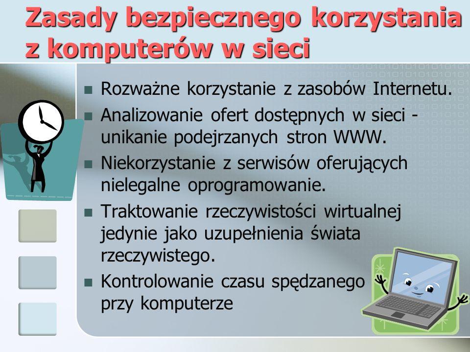 INNE NIEBEZPIECZEŃSTWA Większość z użytkowników internetu bardzo dużo korzysta z komunikatorów np.
